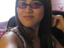 Retro purple tinted glasses