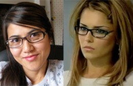 ANTONE system 2 glasses which look VERY similar to the one Cheryl wore for the apprentice