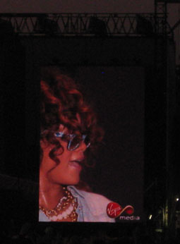 And finally even Rihanna was wearing some cool shades while she was performing