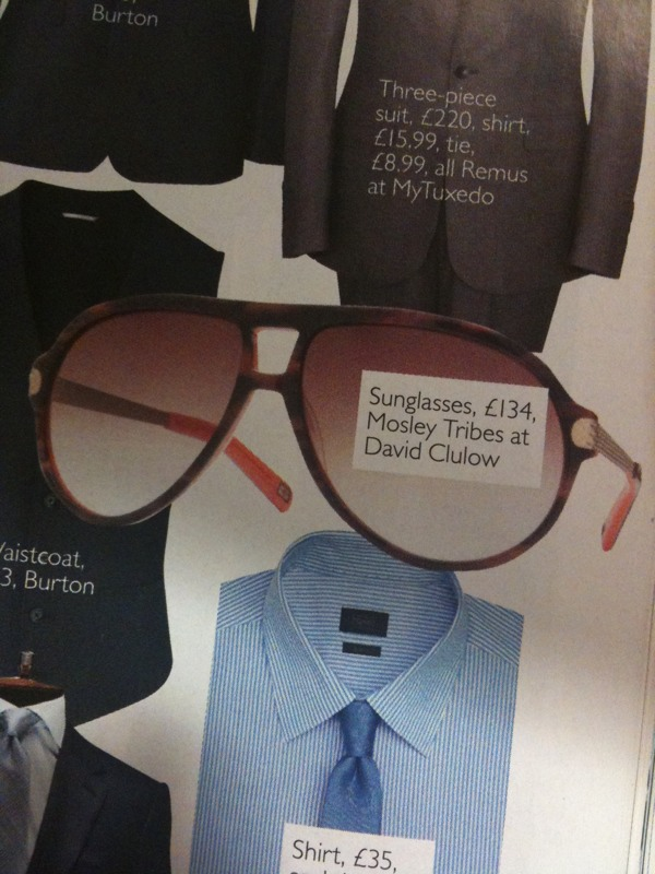 sunglasses as seen in Brides Magazine