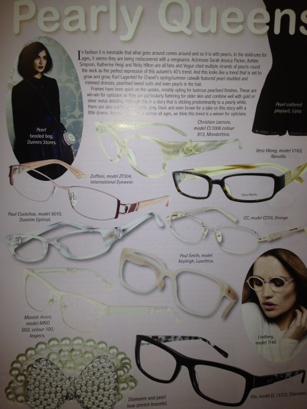 spring/summer 2012 glasses Trend