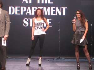 Grace Woodward in Glasses at Clothes Show Live
