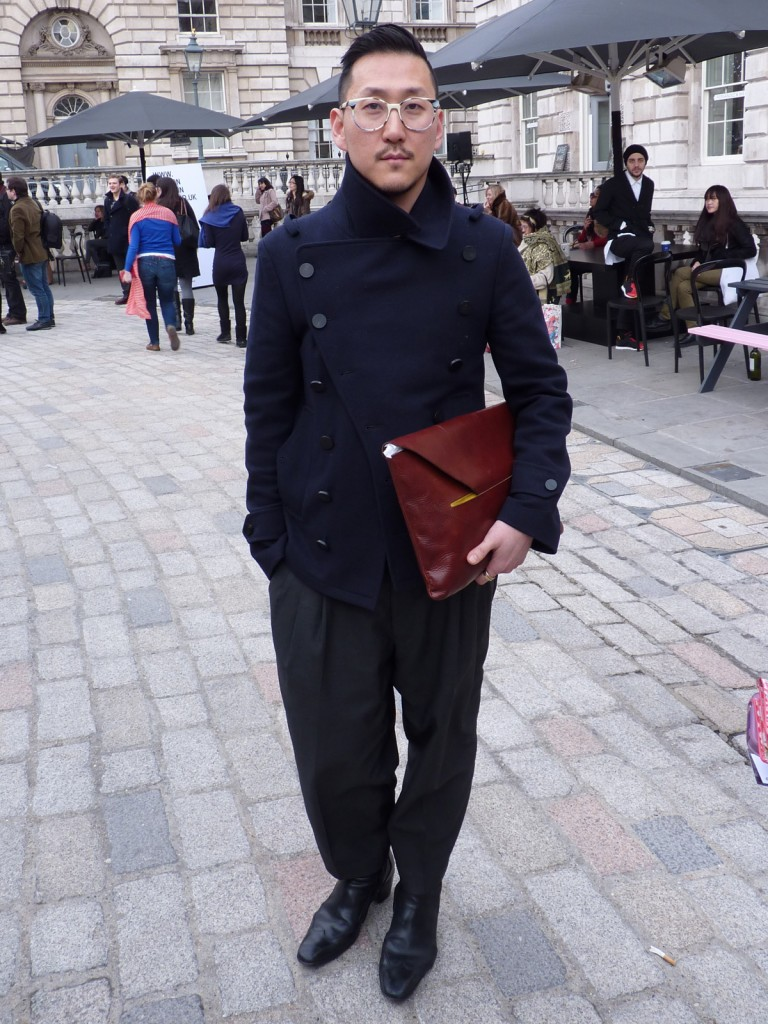 London Fashion Week Street Style Eudon Choi