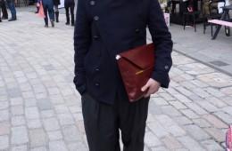 London Fashion Week Street Style Eudon Choi
