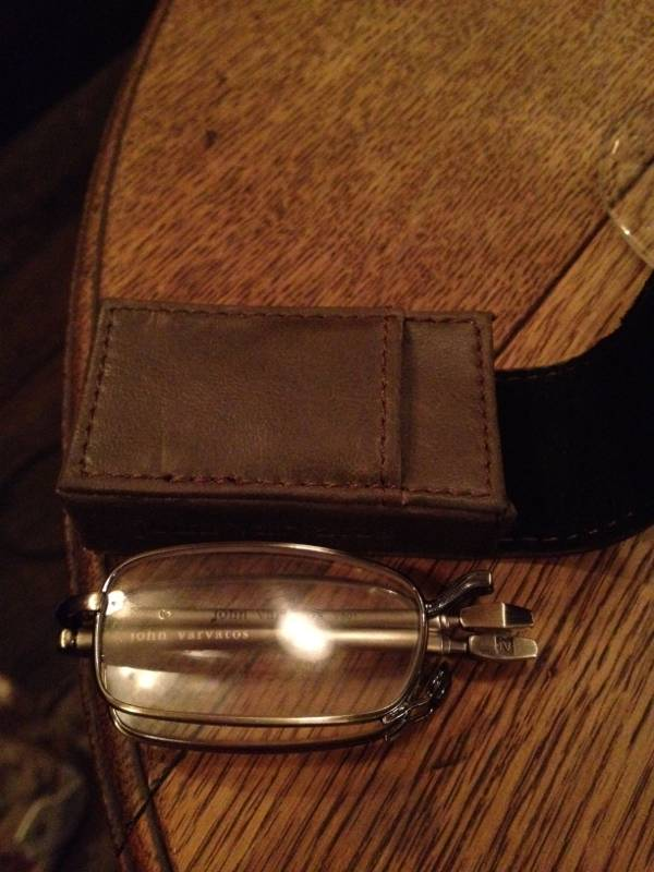 John Varvatos reading glasses