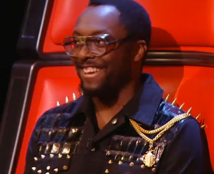 Will i am's Glasses on The Voice (again!)
