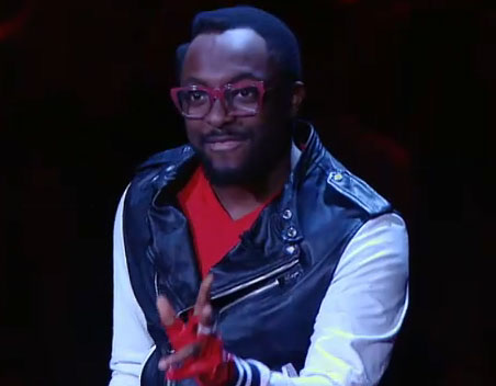 Will i am and his Glasses on The Voice Results Show