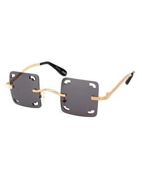 Mauricio Stein For ASOS Handmade Square Sunglasses With Cut Out Lens