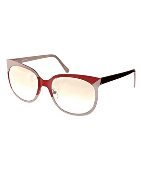Danielle Scutt Two Tone Oval Sunglasses