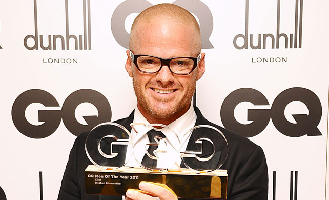 Heston Blumenthal in Kirk Originals image from http://www.gq-magazine.co.uk/men-of-the-year/home/winners-2011/chef-heston-blumenthal