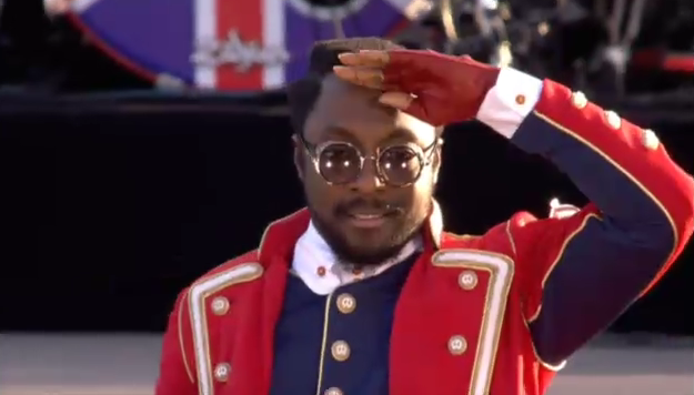 Will i am at Diamond Jubilee concert