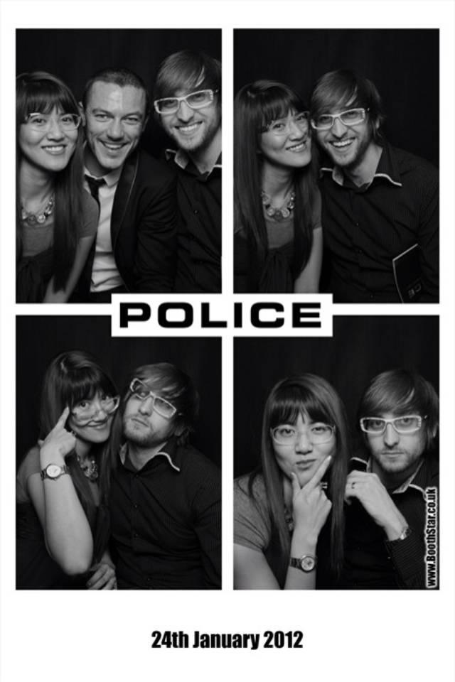 Luke Evans Police Eyewear ambassodor launch party January 2012 - MGAM