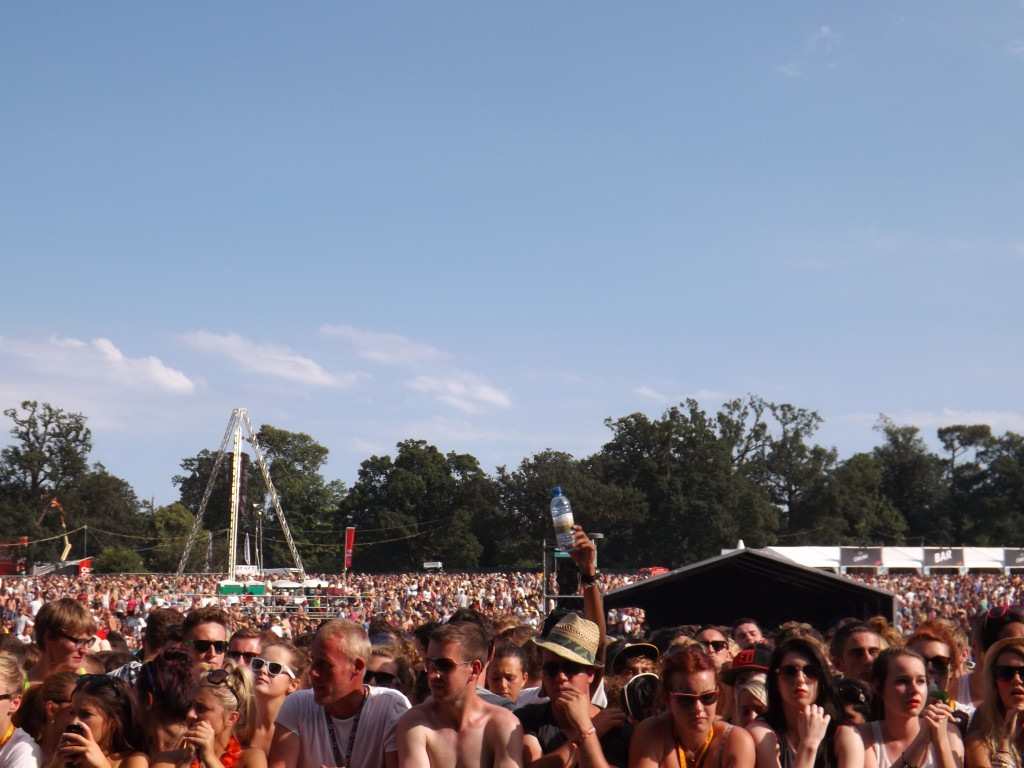 The crowd at V festival 2012
