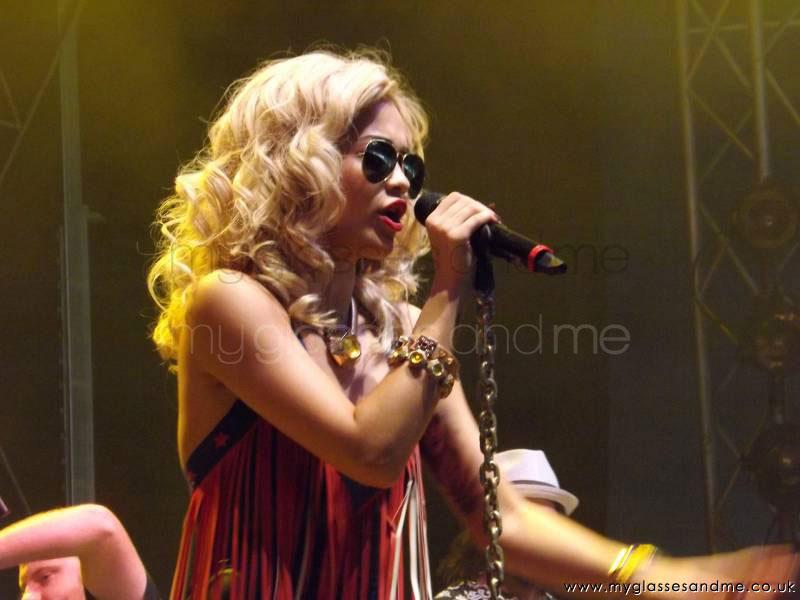 Rita Ora performing at V festival 2012
