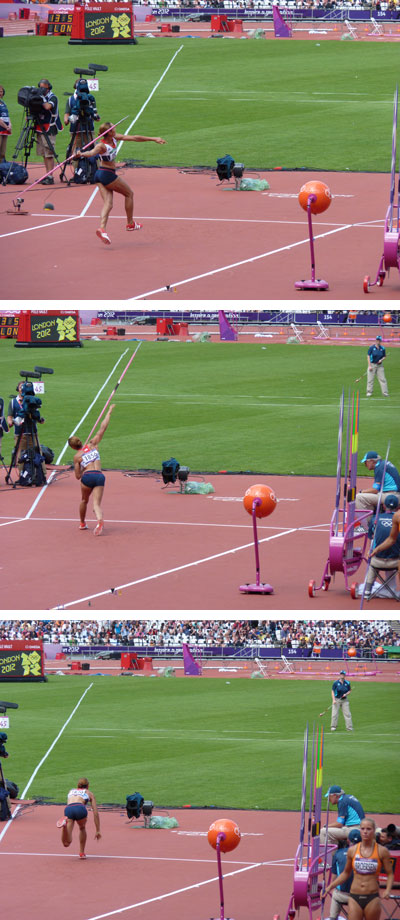 Jessica Ennis at the London 2012 Olympic Games Javelin