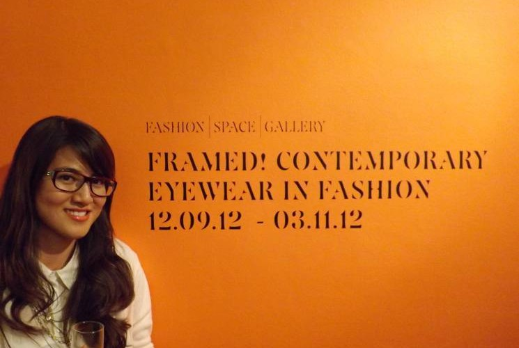 Me at the Private view wearing m.kenics