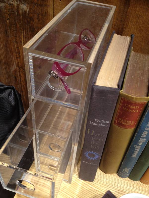 Muji glasses storage unit