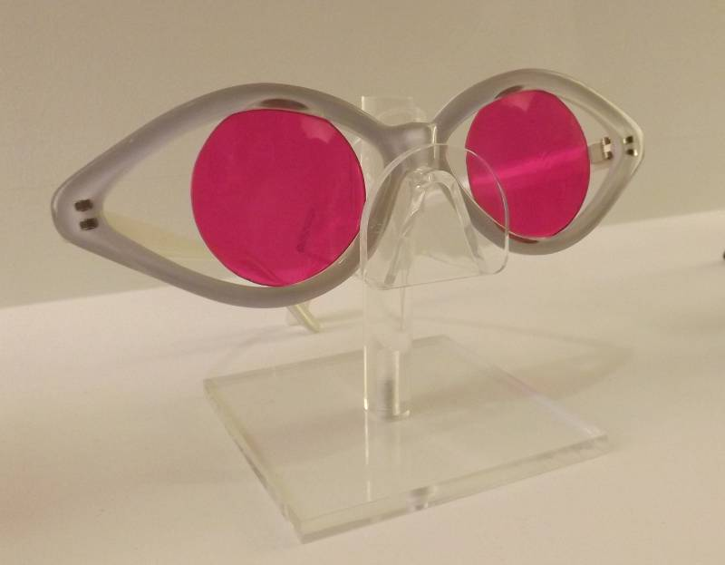 Pink pupil glasses at FRAMED exhibition