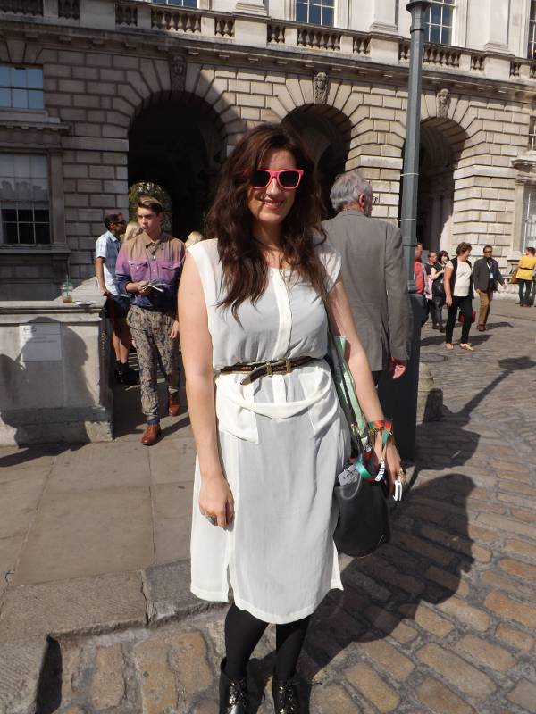 London Fashion Week - Bright pink sunglasses