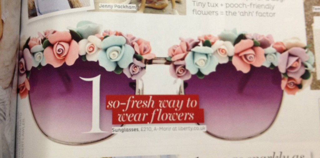 A-Morir sunglasses P.199 in Brides magazine