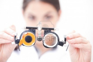 Eye test glasses (source from www.123rf.com)