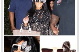 Lil Kim wearing Ritchie White Frame