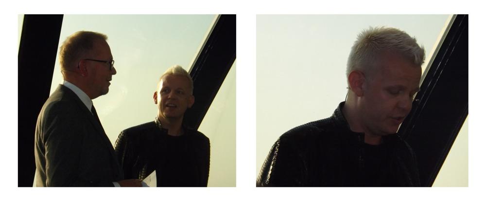 Designer Jorgen Simonsen (the blonde hair guy)