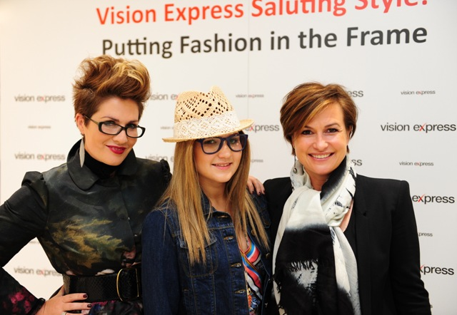 Gemma Sheppard, Lottie Wilson from CHECT and Emma Forbes at the Vision Express fashion show