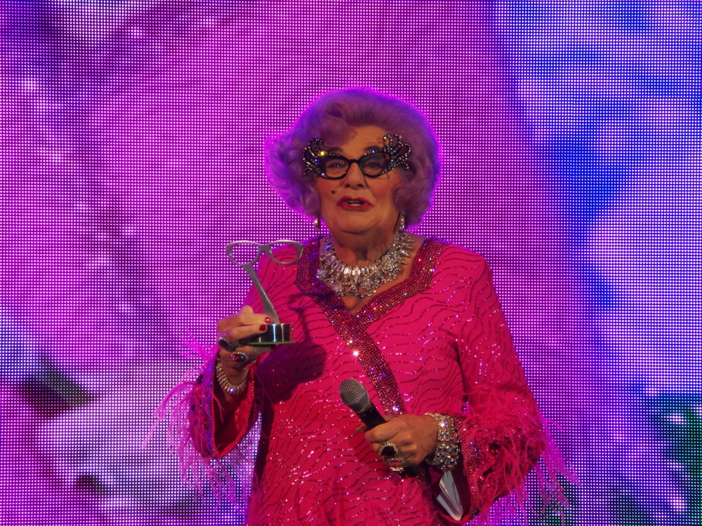 Dame Edna Everage at SWOTY