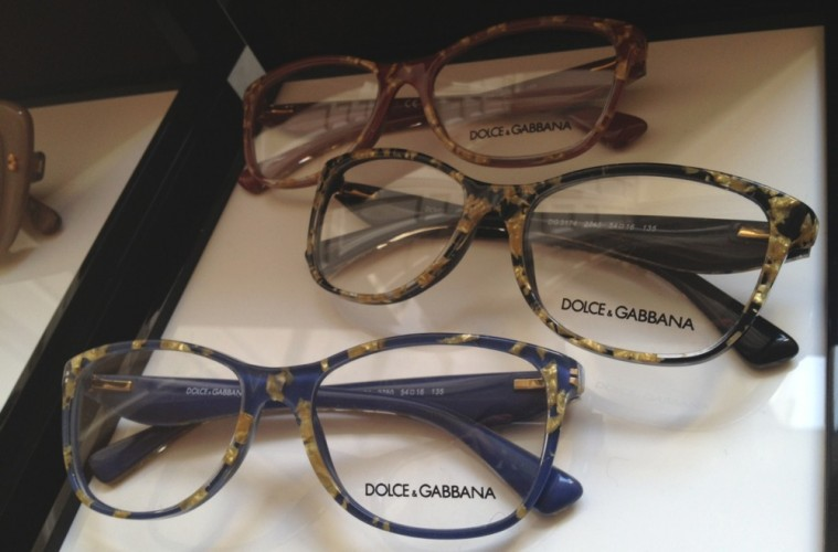 D&G Gold leaf Glasses