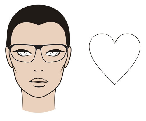 "The ""Heart"" Face Shape - MGAM Glasses Guide"