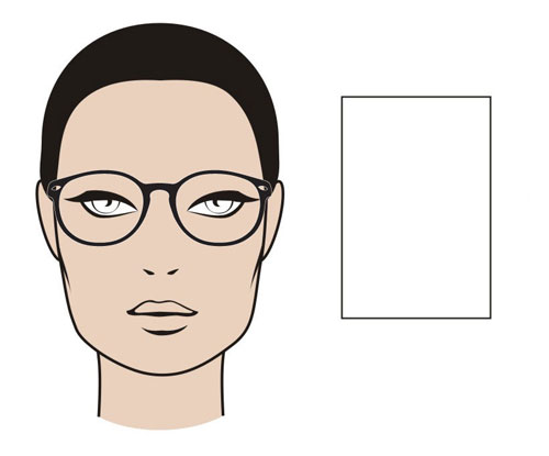 Glasses Frame Guide Face Shape : Rectangle Face Shape
