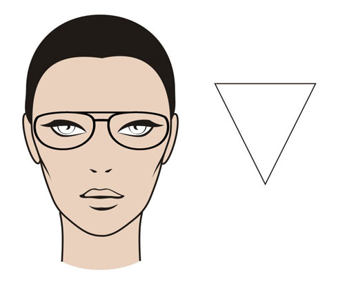 "The ""Upside Down Triangle"" Face Shape - MGAM Glasses Guide"
