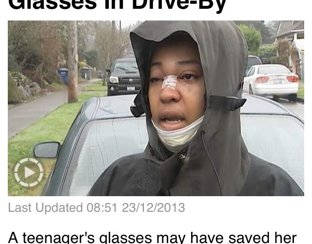 Wearing glasses can save life