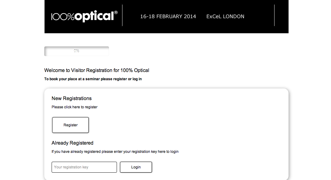 Registration for 100% Optical
