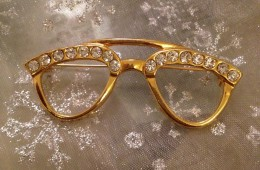 Glasses Brooch