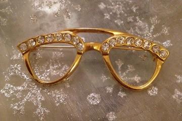 Glasses Brooch