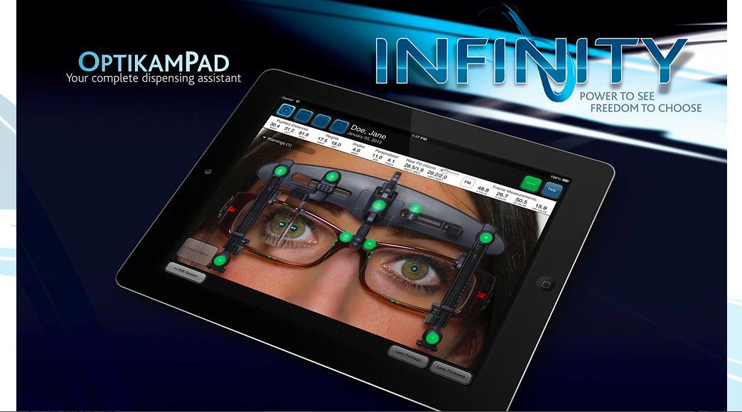 OptikamPad at 100% Optical