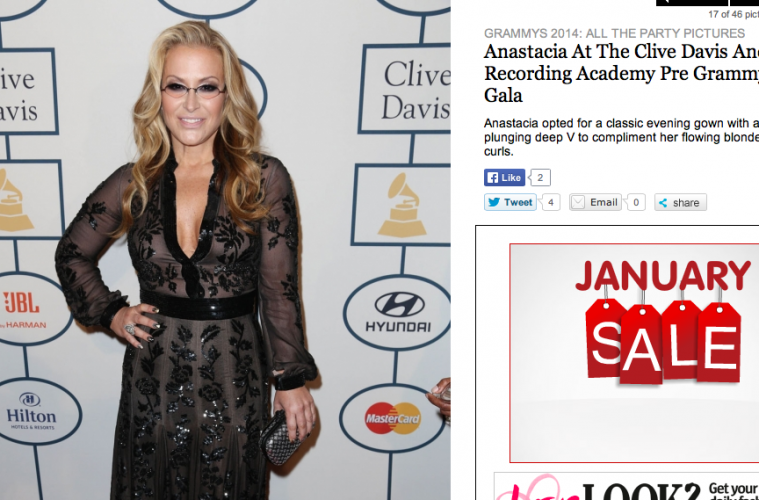 Anastacia at the Grammy 2014-image from Look magazine