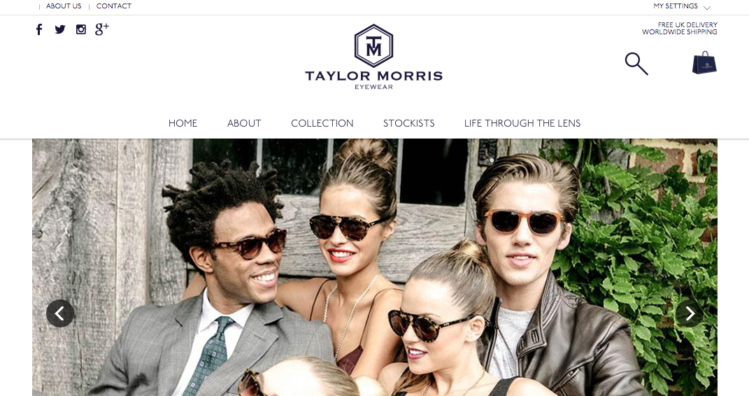 Taylor Morris Eyewear at 100% Optical