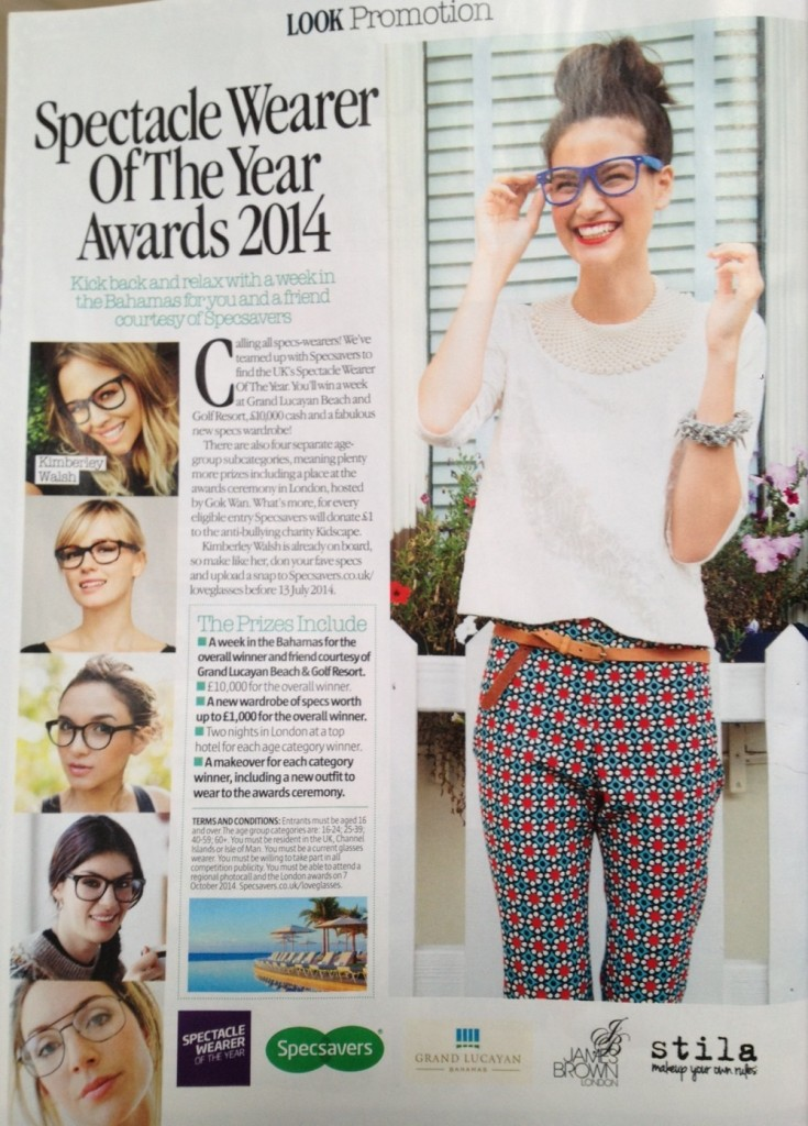 Specsavers Wearer of The Year Award 2014