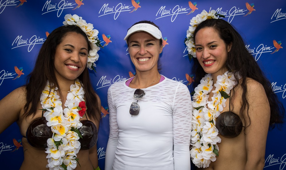 Martina Hingis with Maui Jim Wimbledon 2014