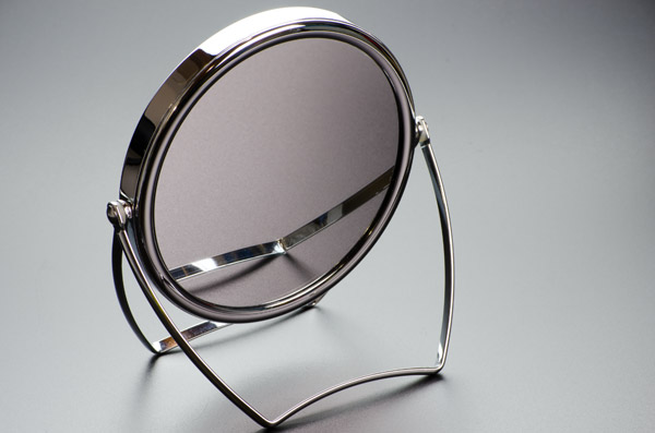 Glasses Hack 1 - Magnifying Mirror