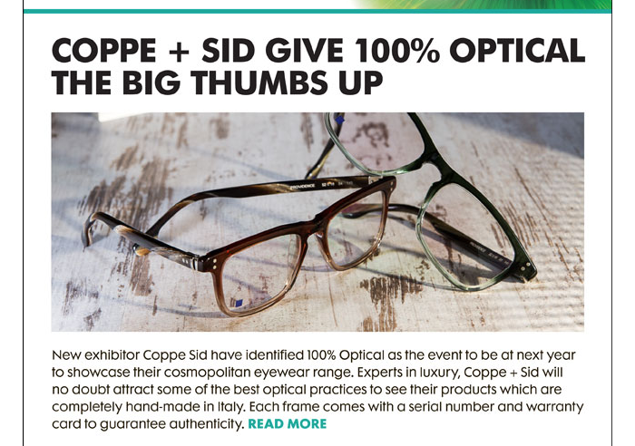 Coppe and Sid at 100% Optical
