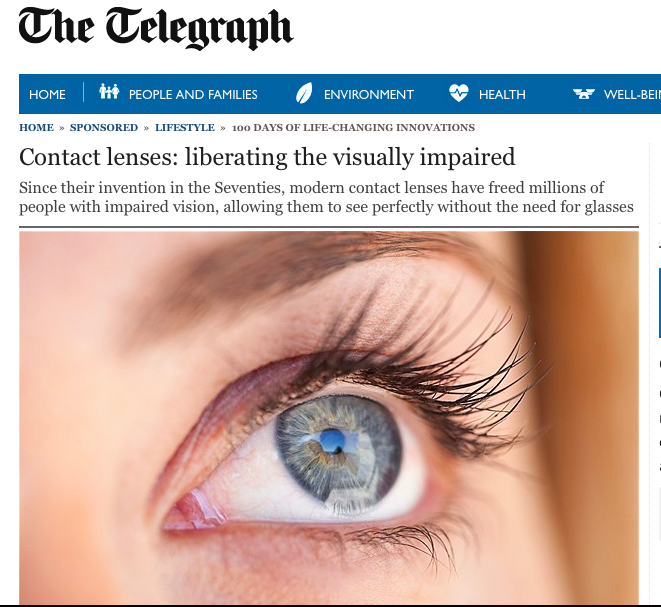 The Telegraph - Contact Lenses