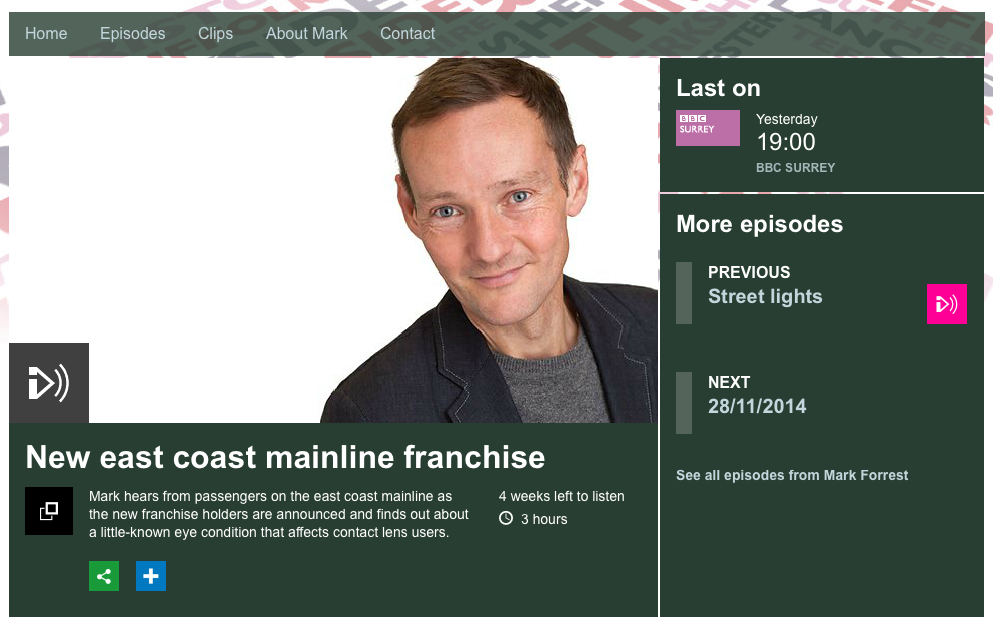 The Mark Forrest Show on the BBC