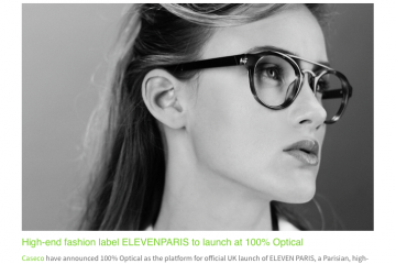 ElevenParis Eyewear to Launch at 100% Optical