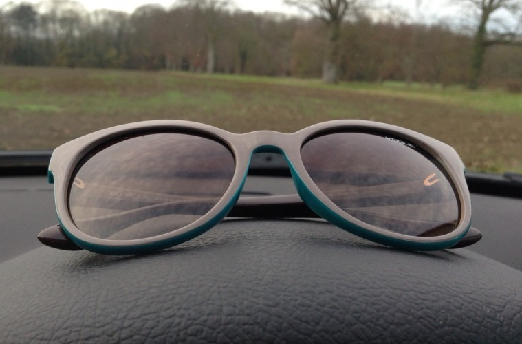 sunglasses in the car