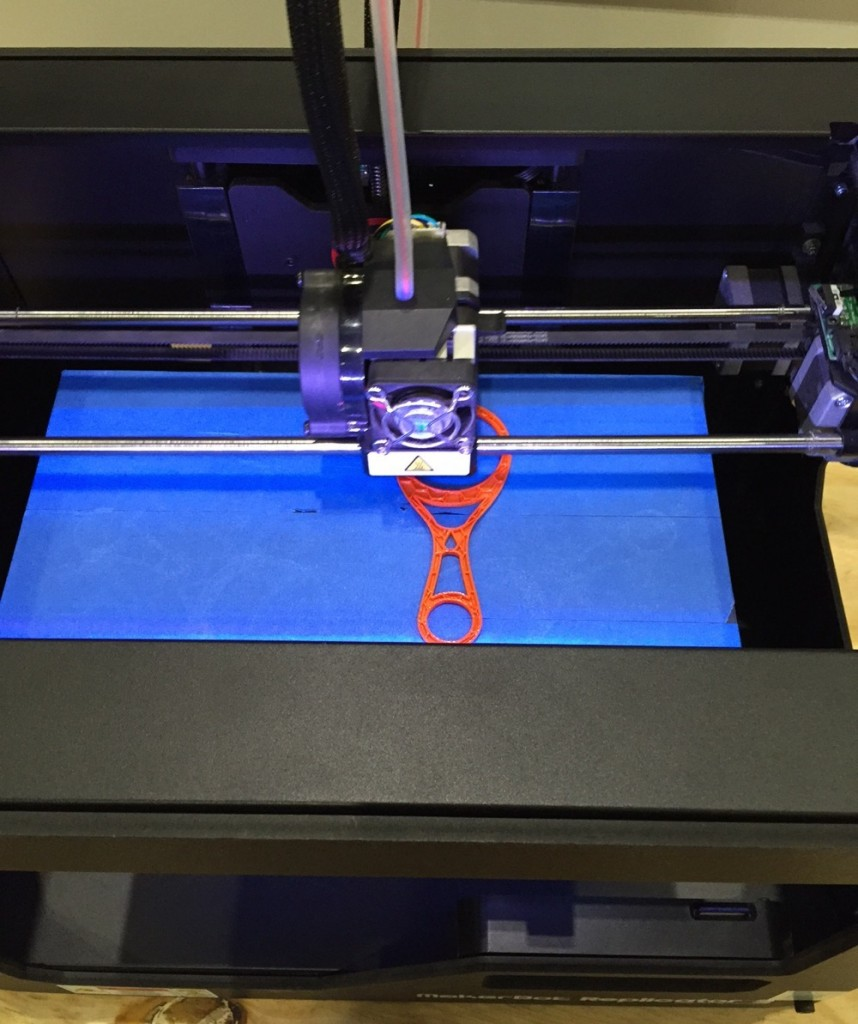 3D printer at 100% Optical 2015