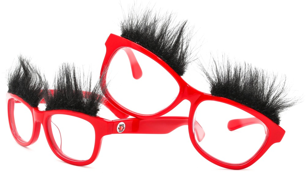 Red Specsavers glasses for Red Nose Day 2015